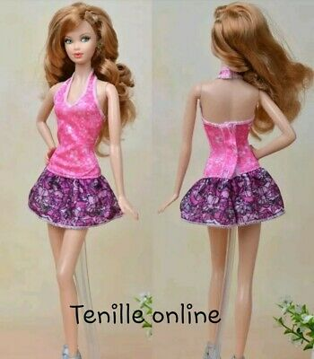 New Barbie doll clothes fashion outfit dress good quality ballet pink  AU seller