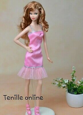 New Barbie doll clothes fashion outfit dress good quality light pink AU seller