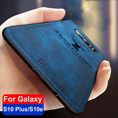 For Samsung Galaxy S10 Plus S10e S9 Cotton TPU Hybrid Case Soft Shockproof Cover