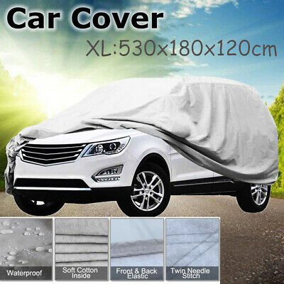 2 Layer Heavy Duty Waterproof Car Cover Cotton Lining Scratch Proof Size XL UK