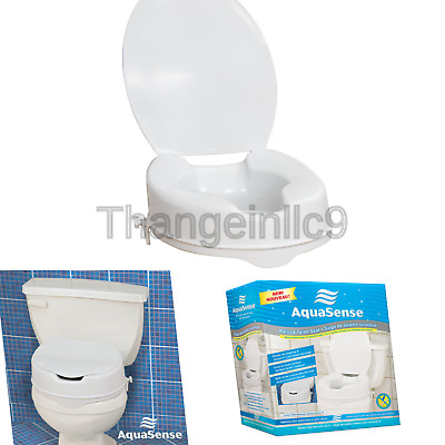 Remarkable Aquasense 3 Way Raised Toilet Seat White 4 Inches 48 42 Theyellowbook Wood Chair Design Ideas Theyellowbookinfo