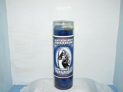 HOLY DEATH PREPARED / Scented 7 Day Green Candle In Glass