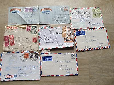 8 PAR AVION envelopes / aerogrammes from Itay, most with letters 1960's, 1949 Fr