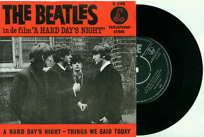 "the BEATLES a Hard Days Night / Things We (DUTCH PS PARLOPHONE HHR 128 VINYL 7"")"