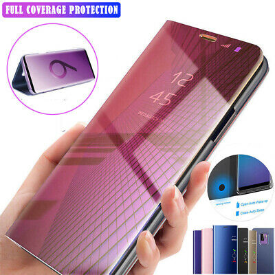 360° Clear View Mirror Case for Samsung Galaxy S10 Plus S10e Flip Stand Cover