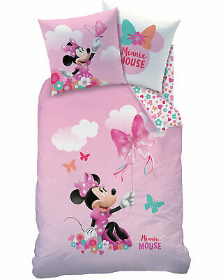 Disney Minnie Mouse Minnie Maus Bettwäsche In Rosa 2 Tlg 80x80