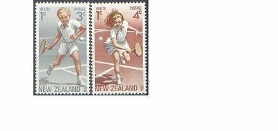 New Zealand 1972  HEALTH (2) TENNIS Unhinged Mint SG 987-8