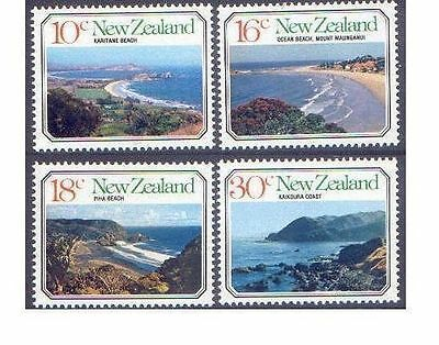 New Zealand 1977 BEACH SCENES (4) Unhinged Mint SG 1145-8