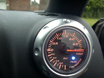 Audi TT Mk1 Air Vent 3Bar 60mm Analogue Electronic Turbo Boost and Vac Gauge Kit