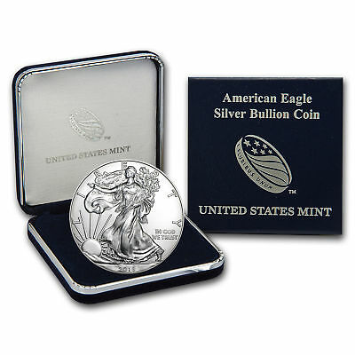 2018 1 oz Silver American Eagle BU U.S. Mint coin and coin case/ sleeve