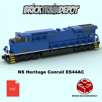 Custom Lego Train Burlington Northern SD60 Instructions ONLY-w//Decals