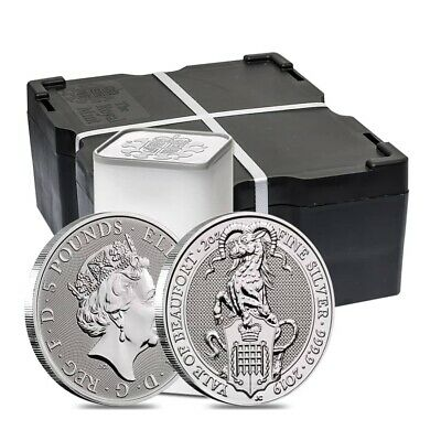 Monster Box of 200 - 2019 Great Britain 2 oz Silver Queen's Beasts (Yale) Coin