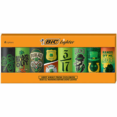 BIC Special Edition Lucky Series Lighters, Set of 8 Lighters