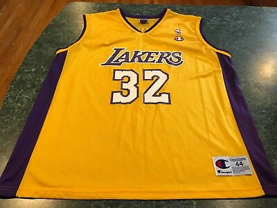 219337339bb MAGIC JOHNSON 44 XL Los Angeles Lakers Champion Jersey First Edition ...