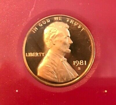 1981 P D S Lincoln Cent  In Mint Cello + PROOF (3 COINS)