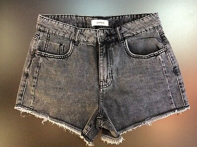 SHORTS VITA ALTA JEANS NERO PIMKIE Donna  Ragazza Size IT 40 afb3fda570a