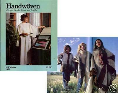 Handwoven magazine fall/winter 1979: jerga, parka, coat, rugs, +more ~ see below