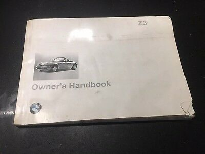 Genuine BMW Z3 Owner's Handbook Manual Roadster M  /M 1.8 1.9 2.8 3.2