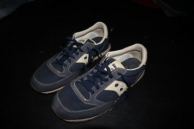 f4fb453e681f Saucony Jazz Original Vintage Mens Trainers Navy Blue Shoes Size 11.5  running