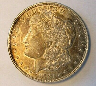 1921 $1 Morgan Silver Dollar XF, toned, 3 available