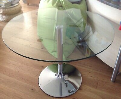 31b9ff726b4 JOHN LEWIS ROUND Glass Top Dining Table 4 Seater - £90.00