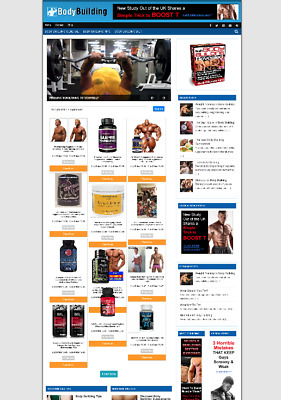Fully Stocked Bodybuilding Uk Affiliate Website + New Domain & Hosting