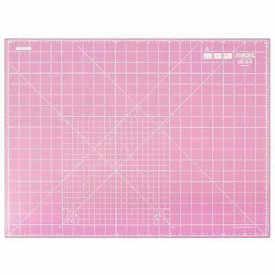 Olfa Double Sided Self Healing Rotary Cutting Mat, Pink, 24'' X 18'' Inch