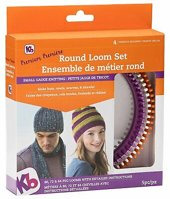 Authentic Knitting Board Premium Round Loom Set Small Gauge 8100