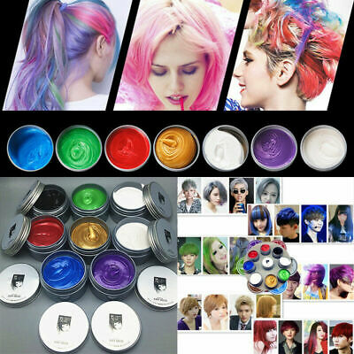 Unisex DIY Hair Color Wax Hairstyle Mud Dye Cream Temporary Modeling 8 Colors
