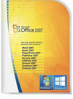 Microsoft Office 2007 DOWNLOAD & PRODUCT LICENSE KEY - Windows PC Laptop HURRY!!