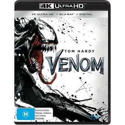 Venom (4K Ultra HD + Blu-ray + Digital) Region B ***BRAND NEW & SEALED***