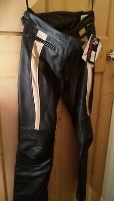 LADIES LEATHER MOTORCYCLE TROUSERS (Size 12)