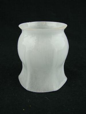 Small Original Moulded White Glass Vitreosil Gas Lamp Shade, 4.7Cm Fitter