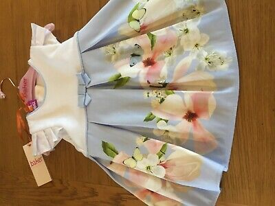 Ted Baker Baby Girls Dress Border Print Age 18-24 Months New