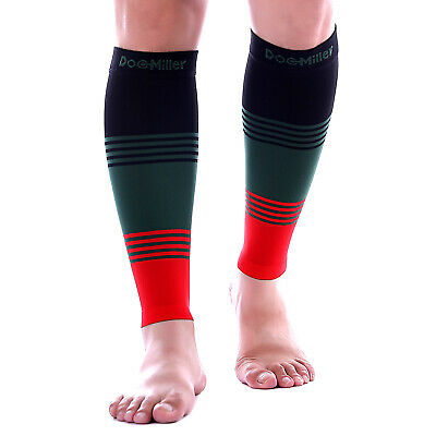 2b4cb6f2137 Doc Miller Calf Compression Sleeve 1 Pair 20-30 mmHg Varicose Veins BLK GRN