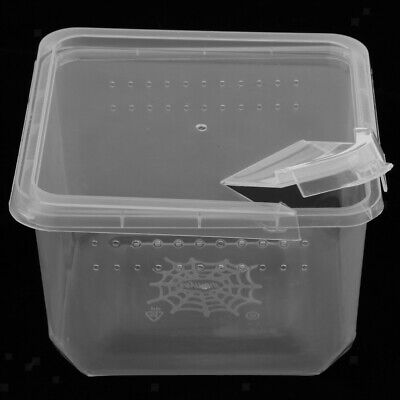 Transparent Clear Reptile Box Insect Cage Breeding Live Food Feeding Box