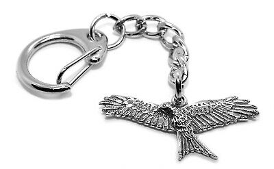 Small Red Kite Bird of Prey Pewter Keyring (Comes in Gift pouch, Made in UK)
