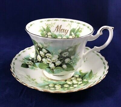 ROYAL ALBERT Flower Of The Month MAY Lily Of The Valley Tea Cup and Saucer