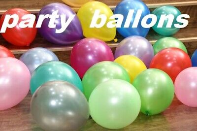 "100pc 11"" Multi Colour Latex Pearl Balloons Birthday Wedding Party Decor Balloon"