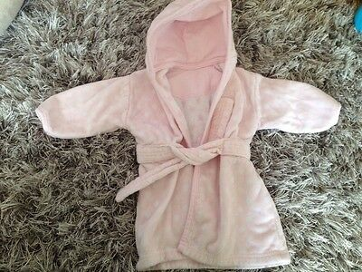 Mothercare Pink Dressing Gown 0-6 Months