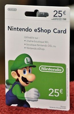 Nintendo eShop Card 25€ e-Shop (2500 pts) LUIGI (Expired) For Collection - New!