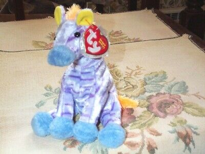 TY Beanie Baby babies Vegas Circus Zebra 12-10-2003 Many Colors Mint Retired