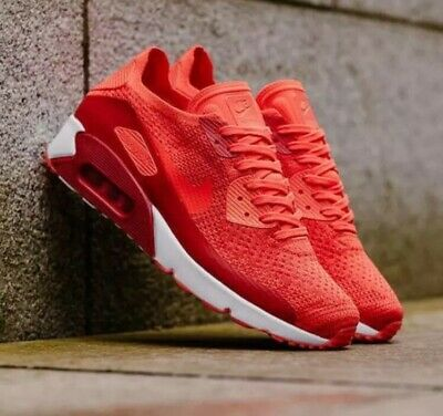 2d9bf81c0ab7 Nike Air Max 90 Ultra 2.0 Flyknit University Red 875943-600 Men s Size 11  NIB