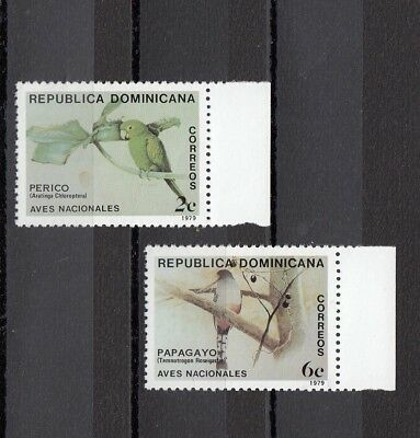 Timbre Stamp 2 Dominicaine Y&t#844-45 Oiseau Bird Neuf**/mnh-Mint 1979 ~B12