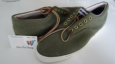 8869c58fe72 New Mens Size 13 Vintage Converse MADE IN USA Washed Denim Skid Grip Olive