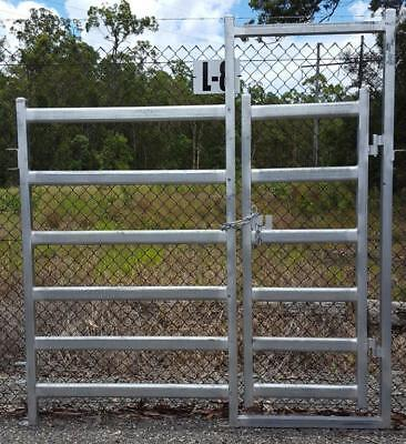 Cattle Panel Man Gate 80mm x 40mm Rail Portable Farm Fencing