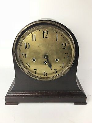 Junghans A20 Beehive Clock Brass Movement 4 Rod & 1 Wire Gong Early 1900s #1555
