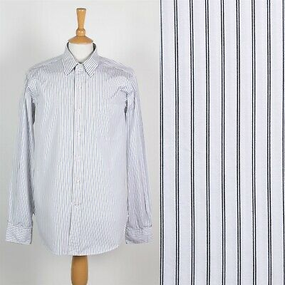 Mens Ralph Lauren Shirt White Striped Pattern Andrew Classic Style Xl