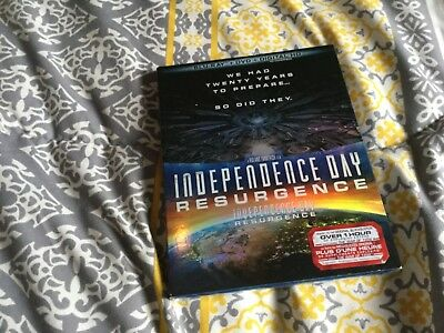 Independence Day Resurgence  (Blu-Ray+ Dvd + Digital Hd )  Brand New Sealed