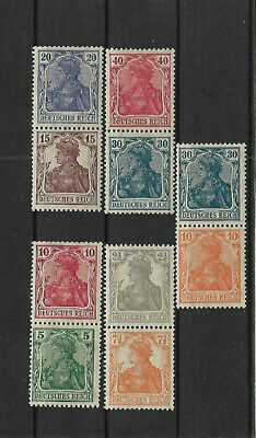 Germany Deutsches Reich - Germania Mint Light Hinged Se Tenant Pairs